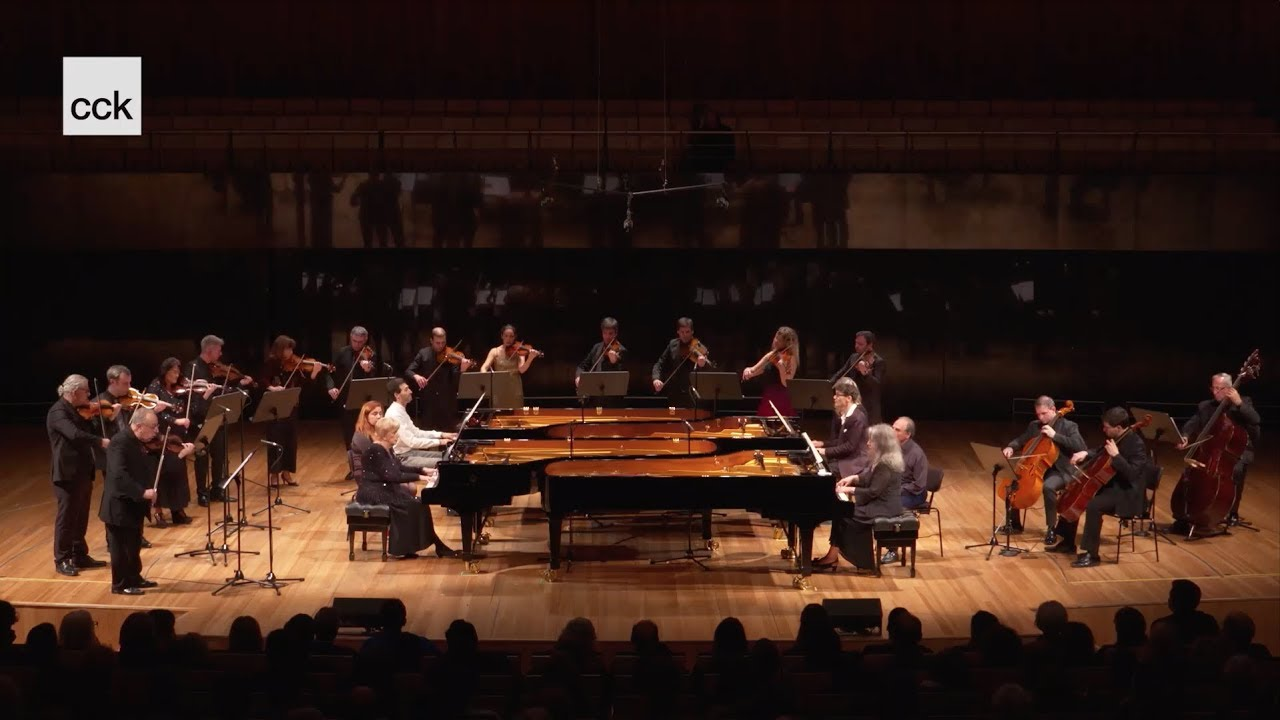 2018 LIVE: Reca, Argerich, Kwiek, Vallina — Bach Concerto for 4 Harpsichords in A minor, BWV 1065